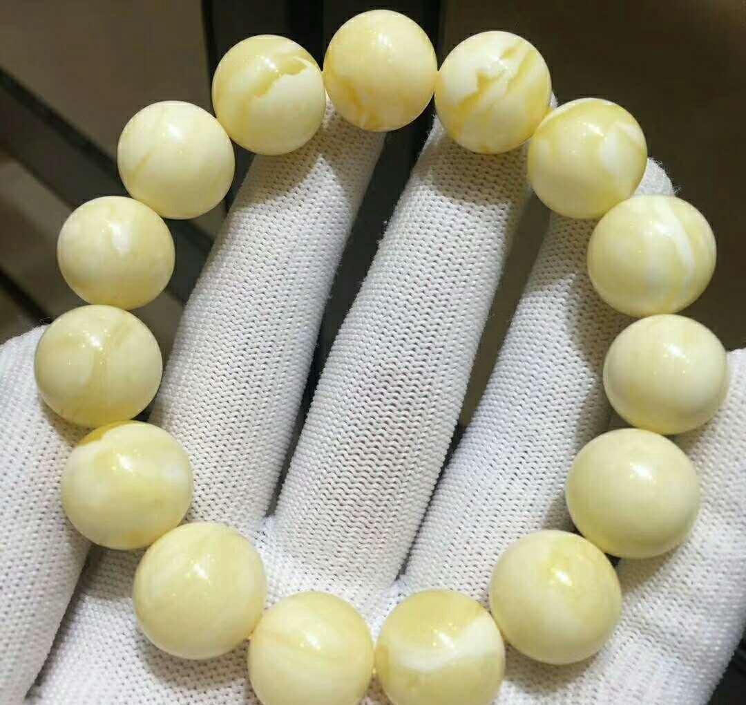 白花蜜蜡2.0圆珠价格