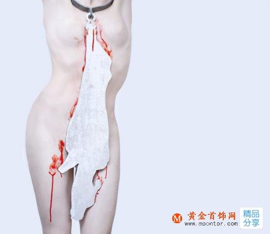 慎入!德国设计师Alexander Mainusch用血腥首饰抗议食肉