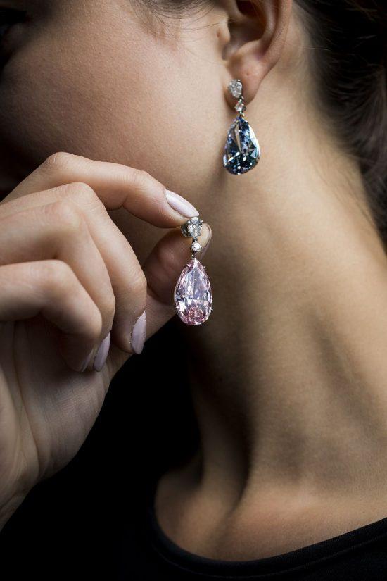 世界上最昂贵的彩钻耳坠