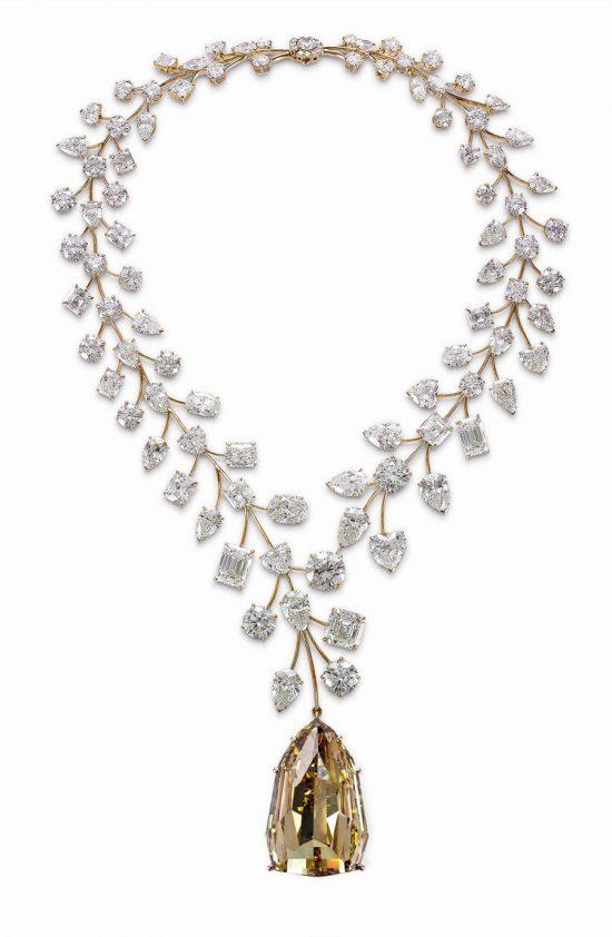 身价非凡!Mouawad全球最昂贵的黄钻项链-珠宝首饰展示图【行业经典】