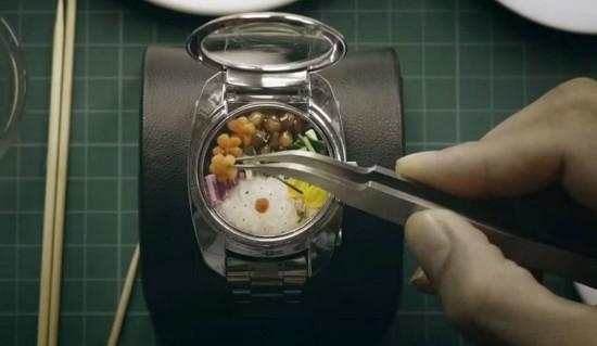 """吃货有福了! 世界上最小的便当""""BENTO WATCH"""""""