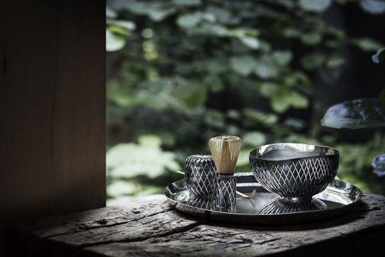 Georg Jensen携手日本建筑大师Kengo Kuma打造银器茶道组合