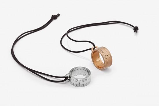 回归原始 NOMOS Sundial可读时间的日晷指环-创意珠宝