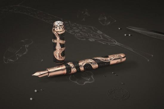 灵蛇缠身 万宝龙打造The Ultimate Serpent终极限量版书写工具-珠宝首饰展示图【行业经典】