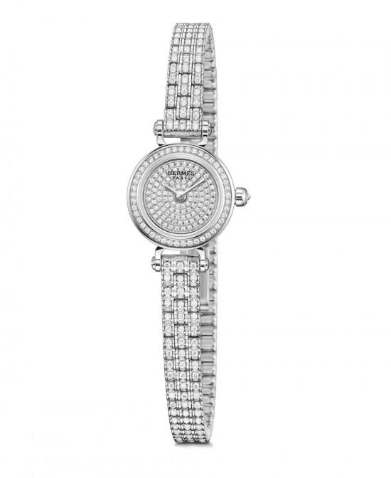 高贵优雅 爱马仕(Hermès)Faubourg Joaillerie钻石腕表-珠宝首饰展示图【行业经典】