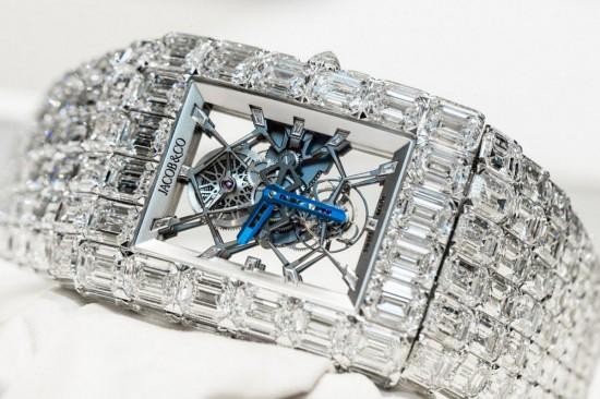 撼世力作 Jacob&Co The Billionaire钻石腕表-珠宝首饰展示图【行业经典】