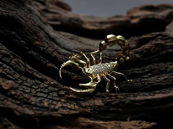 致命诱惑:钻石金蝎-创意珠宝