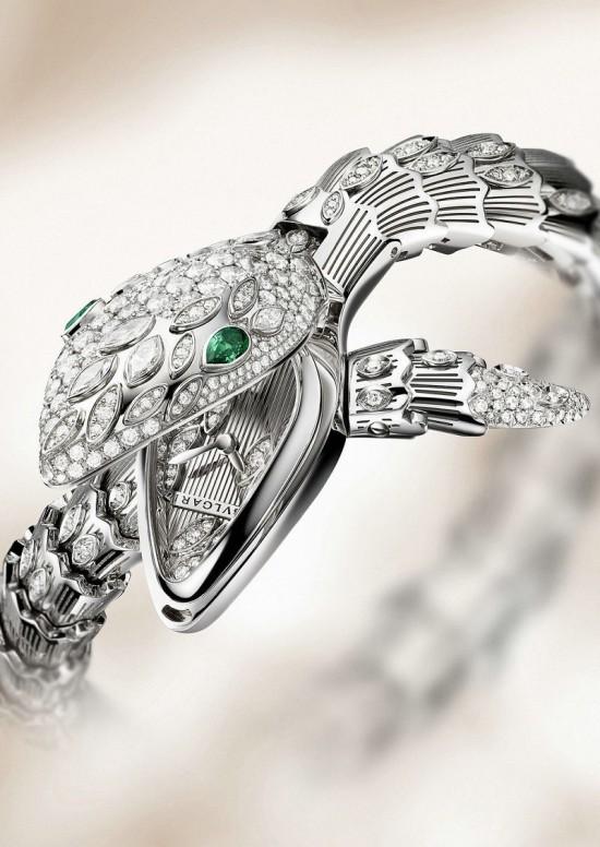 妩媚迷人 宝格丽(Bvlgari)全新Serpenti高级珠宝腕表-珠宝首饰展示图【行业经典】