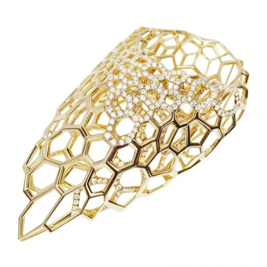 Caspita X Zaha Hadid:Skein系列首饰-创意珠宝