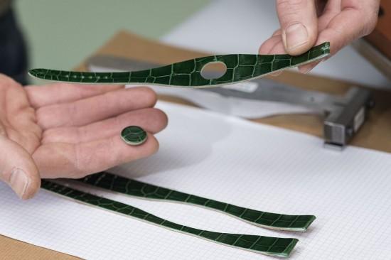 爱马仕(Hermès)Faubourg Manchette Joaillerie皮革手镯腕表