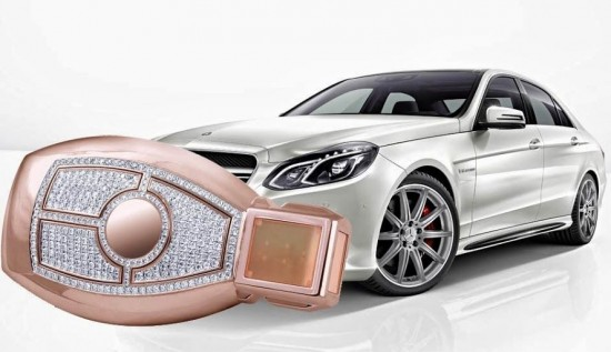 极致奢华 梅赛德斯-奔驰(Mercedes-Benz)钻石车钥匙-珠宝首饰展示图【行业经典】