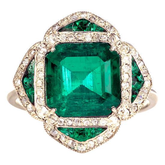 如何鉴别祖母绿与仿造宝石-珠宝首饰展示图【行业经典】