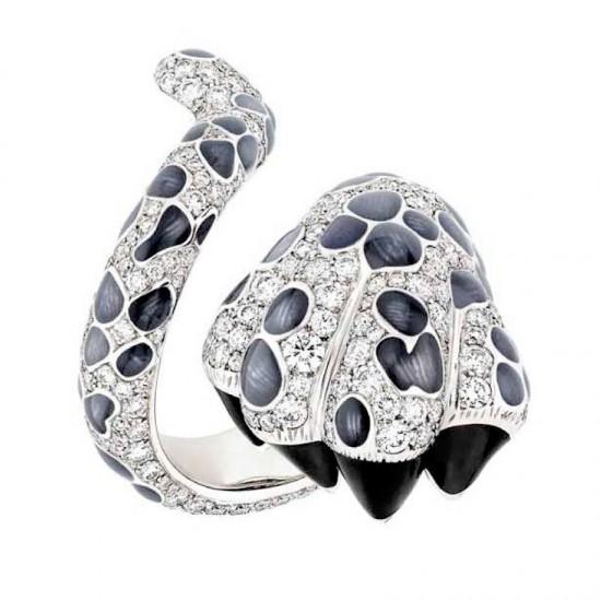 狂野不拘 Dior MITZA豹纹指环