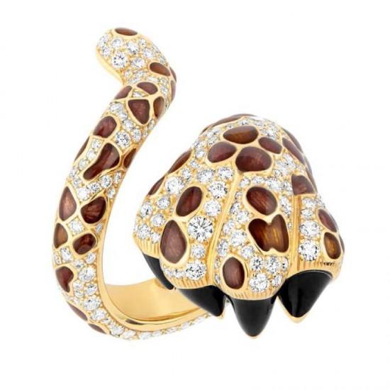 狂野不拘 Dior MITZA豹纹指环-创意珠宝