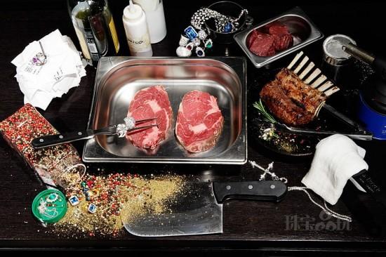 当奢华珠宝撞上美味大餐-珠宝首饰展示图【行业经典】