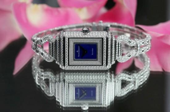 积家Reverso Cordonnet Duetto高级珠宝钻石腕表