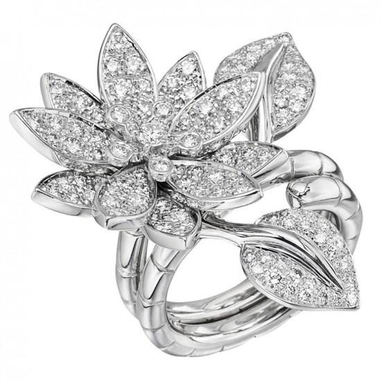 梵克雅宝:Lotus莲花指间戒-创意珠宝