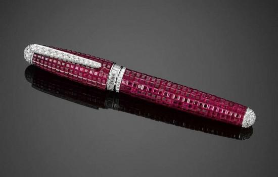 最奢华的礼物:价值60万美元的红宝石钢笔-珠宝首饰展示图【行业经典】