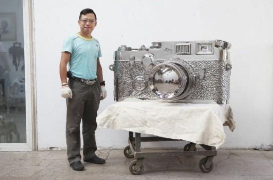世界上最大的古董莱卡相机-创意珠宝