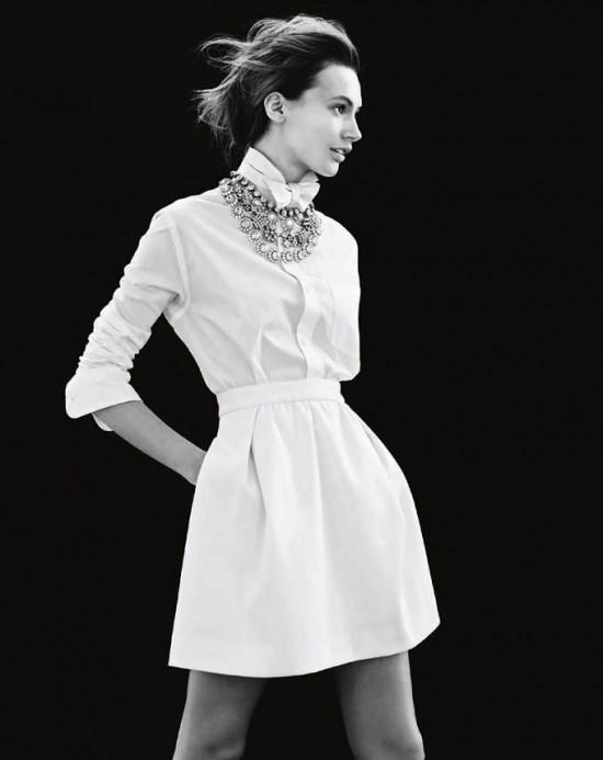 瑞典名模Mona Johannesson拍摄J. Crew全新珠宝大片-时尚珠宝设计【行业顶级】