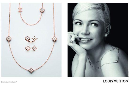 米歇尔•威廉姆斯迷人演绎路易威登全新Blossom BB珠宝广告