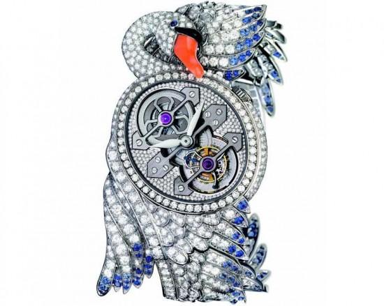 宝诗龙CYPRIS TOURBILLON天鹅珠宝腕表-珠宝首饰展示图【行业经典】