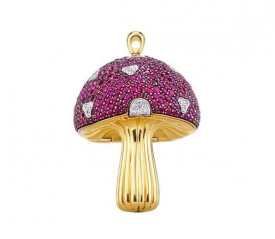 "Shawish世界上最昂贵的""蘑菇U盘""-珠宝首饰展示图【行业经典】"