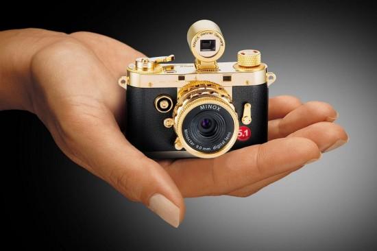 MINOX全新迷你古典相机组DCC 5.1 24K Gold Edition-珠宝首饰展示图【行业经典】