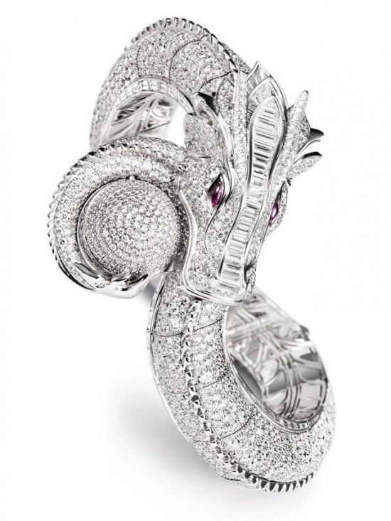 续写神话 伯爵龙凤造型高级珠宝腕表-珠宝首饰展示图【行业经典】