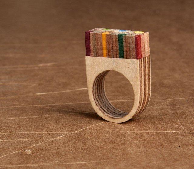 返朴归真 Elena Hanis木质戒指-创意珠宝