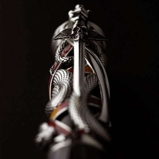 """史泰龙亲自操刀设计Montegrappa""""混沌""""钢笔-珠宝首饰展示图【行业经典】"""