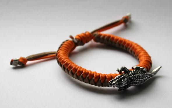 霸气十足 鳄鱼编织手链-创意珠宝