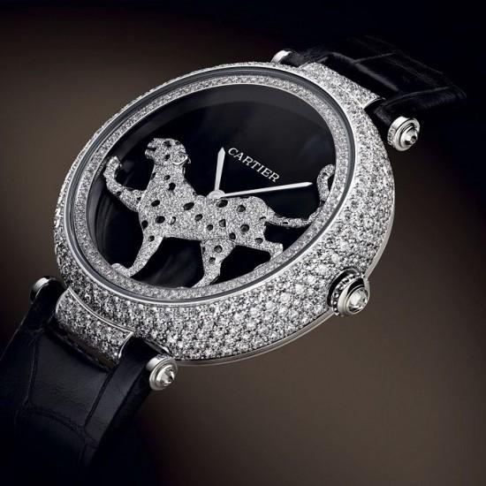 Masse Secrete Panther Decor钻石女装腕表-珠宝首饰展示图【行业经典】
