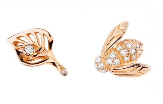 充满田园气息 Dior全新La Rose Dior系列耳坠-珠宝首饰展示【行业精选】