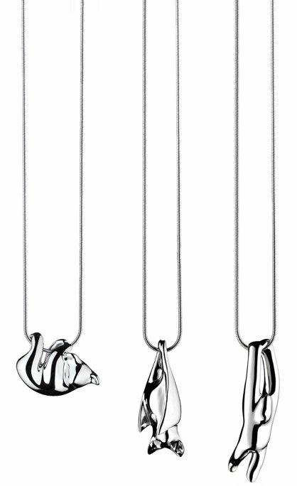 Markus diebel:银质动物项链-创意珠宝