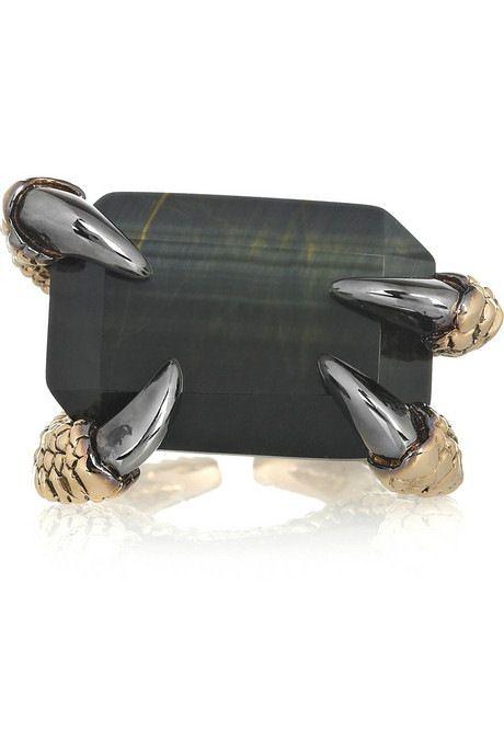 Roberto Cavalli禽爪玛瑙戒指-创意珠宝