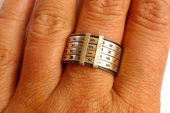 创意戒指拼出爱的宣言-创意珠宝