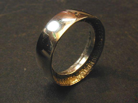 非常创意:DIY硬币指环-创意珠宝