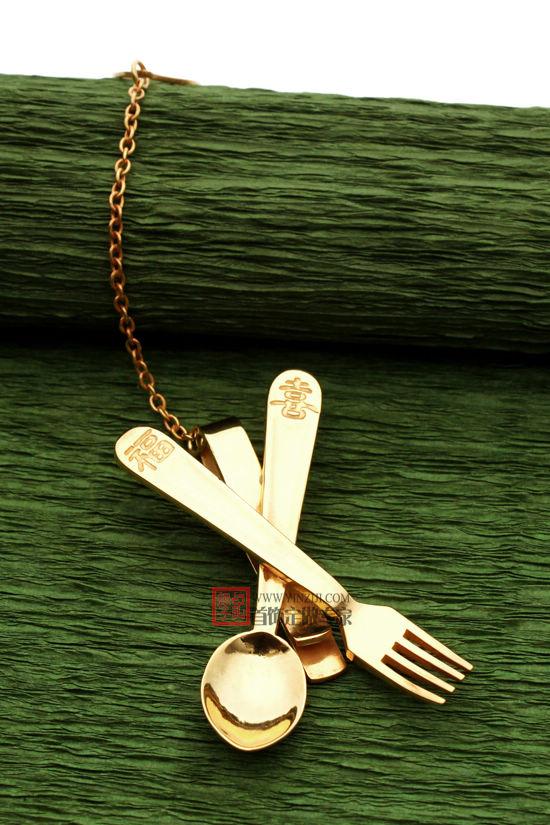 餐具领带夹-珠宝定制-创意珠宝