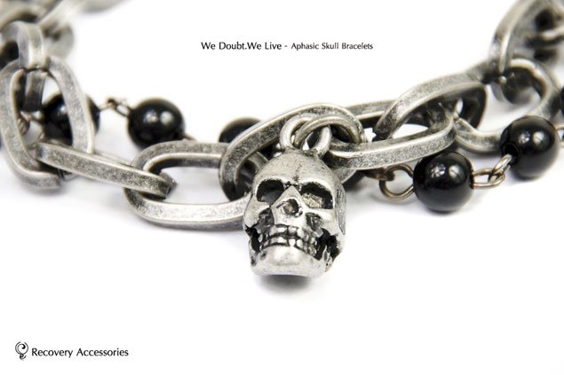 Recovery 2011 Aphasic Skull & Doubt-Maria Bracelets