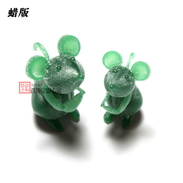 两只老鼠-珠宝定制-创意珠宝