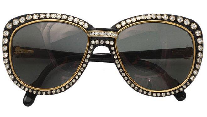 鼻梁上的奢华 卡地亚Cartier钻石黄金太阳镜-珠宝首饰展示图【行业经典】