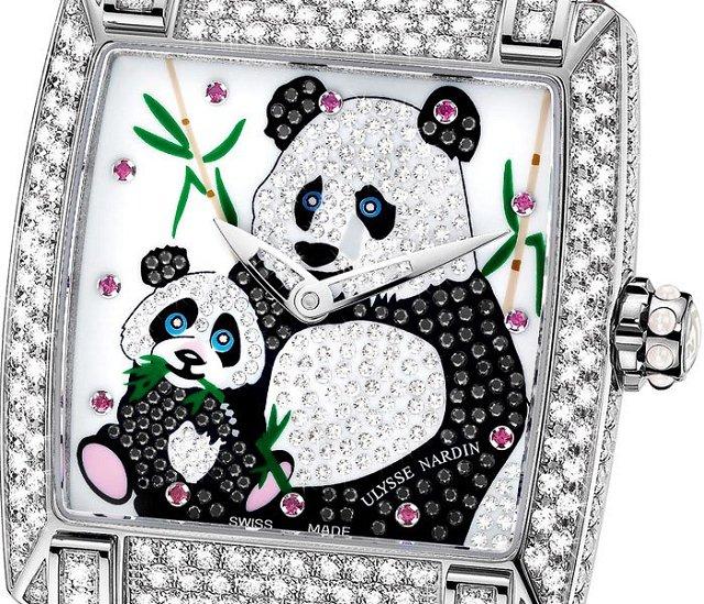 雅典表:绮想熊猫Caprice Panda限量女士腕表-珠宝首饰展示图【行业经典】