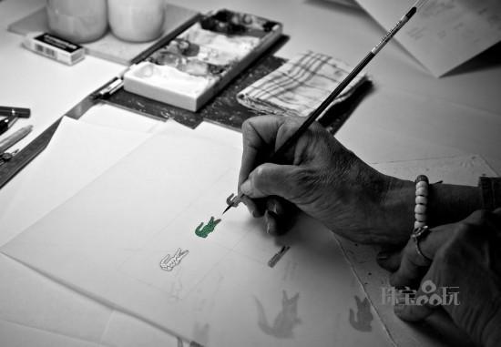 Boucheron为LACOSTE 80周年特别定制鳄鱼胸针