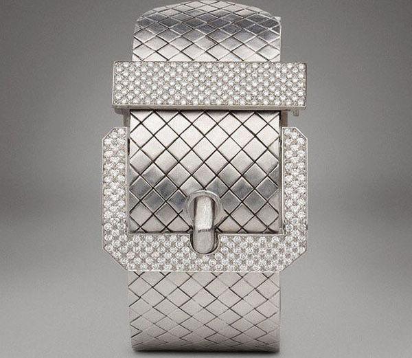 Bottega Veneta白金钻石手镯-珠宝首饰展示图【行业经典】