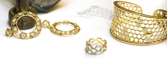 传递浓情蜜意 Gumuchian蜜蜂主题珠宝