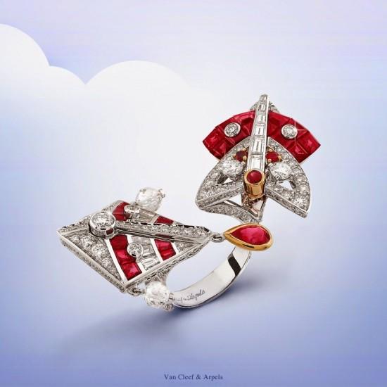 摇曳在风中 梵克雅宝全新Cerfs-Volants高级珠宝系列-精美珠宝【秘密:适合高贵女人的珠宝】