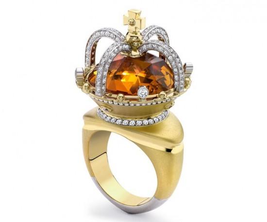 闪耀指尖 Theo Fennell皇冠戒指-珠宝设计【哇!行业大师灵魂之作】