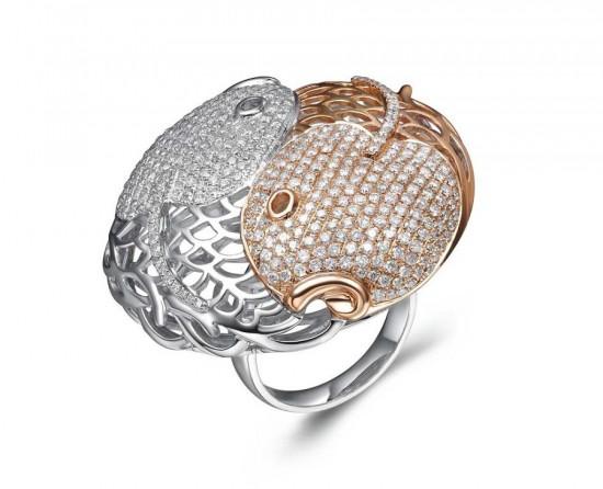 意趣盎然 《双鱼八卦图之幸福》戒指-珠宝设计【哇!行业大师灵魂之作】