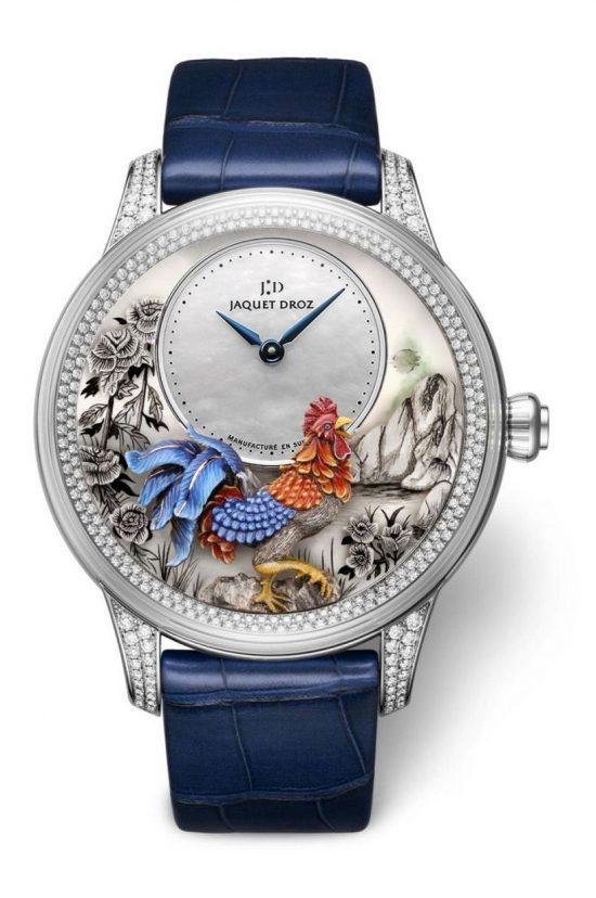 雅克德罗(Jaquet Droz)全新中国鸡年生肖腕表-珠宝首饰展示图【行业经典】